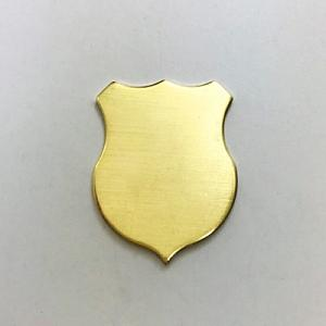 Brass Shield 20g 1.25-Brass Shield Crest Badge Law enforcement Stamping blank Stamping supplies Next of Kenn Ag Metalz Blanks Etch Etching Enamel Enameling Supply